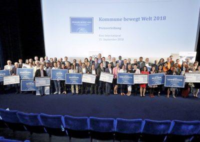 """Kommune bewegt Welt"" Nkoumise-Sud erhällt dritten Preis! (Foto: Dirk Enters)"