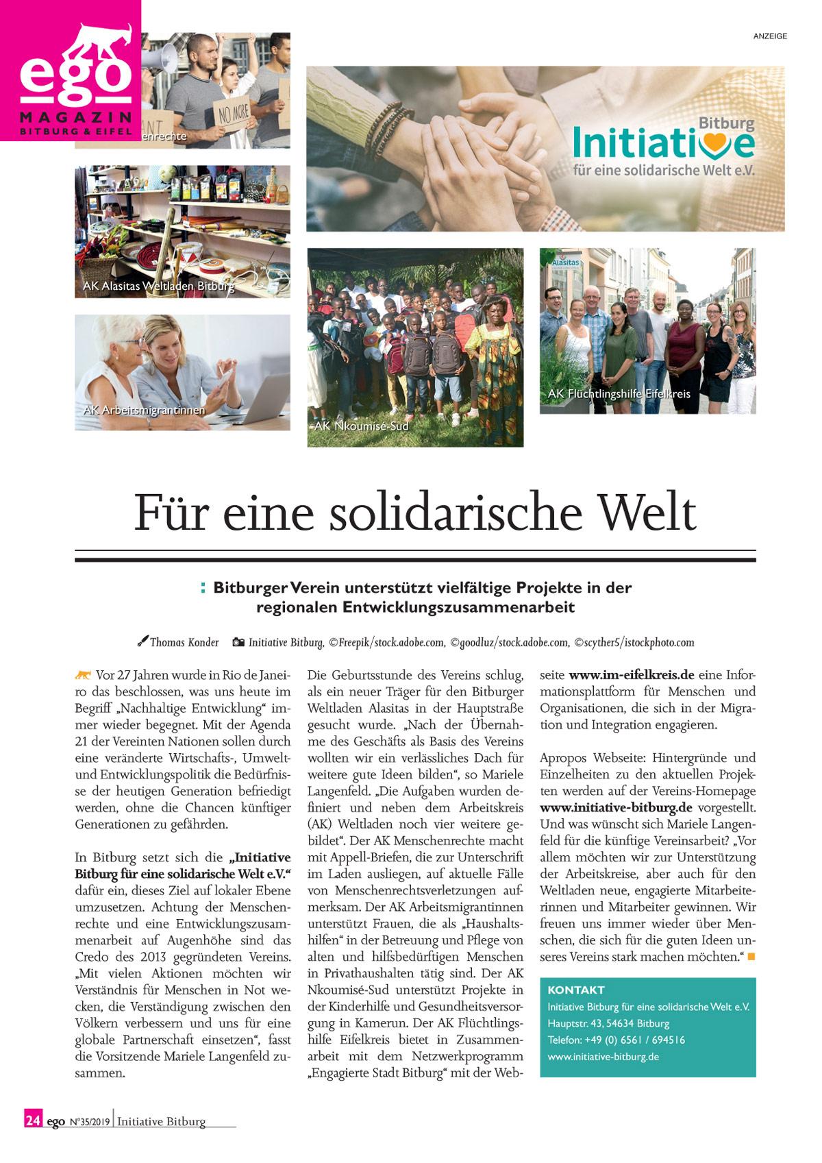 Artikel zur Initiative Bitburg aus der ego Magazin Ausgabe 35 jetzt lesen/downloaden (PDF Dokument)